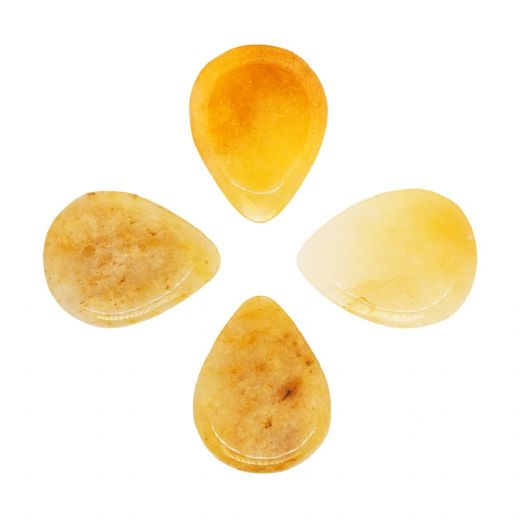 Shimmy Tones Yellow Aventurine 4 Guitar Picks